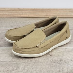 Crocs Walu II Tan Canvas Triple Comfort Loafer